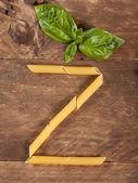 La lettera z con pasta — Foto Stock