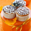 Halloween cupcake - Stock Photo