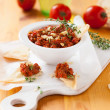 Red pepper and walnut dip — Stock fotografie
