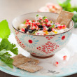 Cheese dip with pomegranate seeds — Stock Photo