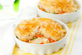 Chicken and vegetable pie — Stock Photo