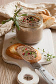 Chicken liver pate — Stock Photo