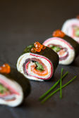 No-Rice Sushi Roll — Stock Photo