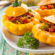 Stock Photo: Stuffed pattypsquash