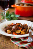 Boeuf Bourguignon — Stock Photo