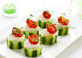 Holiday vegetable appetizer — Stock Photo