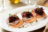 Canapes with chicken liver pate — Zdjęcie stockowe