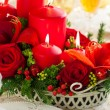 Festive Christmas table — Foto Stock