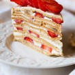 Stock Photo: Strawberry cake