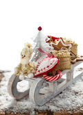 Christmas sleigh with gifts. — Стоковое фото
