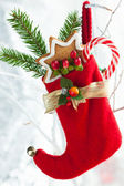 クリスマスのストッキングのギフト — ストック写真