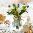Christmas table decoration — Stock fotografie