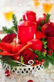 Festive Christmas table — Stock Photo