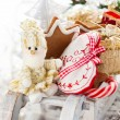 Christmas sleigh with gifts. — Stock Photo