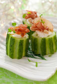 Stuffed cucumber — Stock Photo