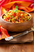 Bulgur with vegetables — Stock Photo