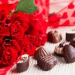 Red roses for Valentine — Stock Photo #18634465