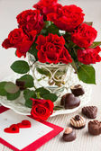Red roses for Valentine — Stock Photo