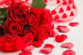 Rosas rojas para san valentín — Foto de Stock