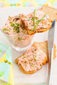 Salmon spread — 图库照片
