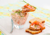 Salmon spread — Stock Photo