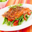 Salmon fillet with vegetables — Stock Photo #22730601
