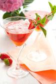 Strawberry drink — Stock Photo