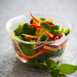 Foto Stock: Steamed vegetables