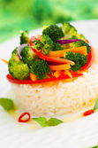 Steamed vegetables with rice — Stock Photo