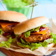 Christmas Turkey Burgers — Stock Photo #31912915