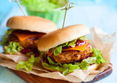 Christmas Turkey Burgers — Stock Photo