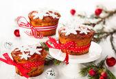 クリスマスのフルーツ ケーキ — ストック写真