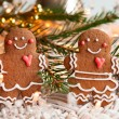 Gingerbread couple — Stock Photo