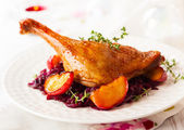 Roasted duck leg — Stock Photo