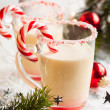 Stock Photo: Creamy Peppermint Punch