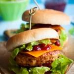 Christmas Turkey Burgers — Stock Photo #32753203