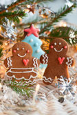 Gingerbread couple — 图库照片