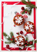 Christmas fruit cakes — Stock Photo