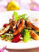 Salad with quail — Stock Photo