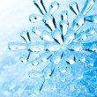 Snowflakes on snow  — Foto de Stock