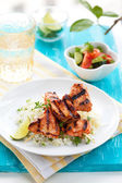 Chicken masala skewers — Stock Photo