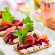 Holiday appetizer — Stock Photo
