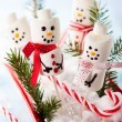 Stock Photo: Marshmallow snowmen