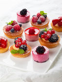 Assorted desserts — Stock Photo
