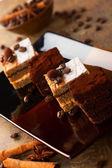 Kawa i czekolada — Zdjęcie stockowe