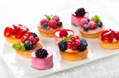 Assorted desserts — Stock Photo