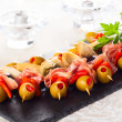 Stock Photo: Antipasti skewers
