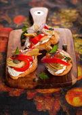 Artichoke Toasts — ストック写真