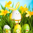 Easter rabbit on green grass — Stock Photo #40606975