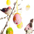 Easter eggs and birds — Stock Photo #40606971